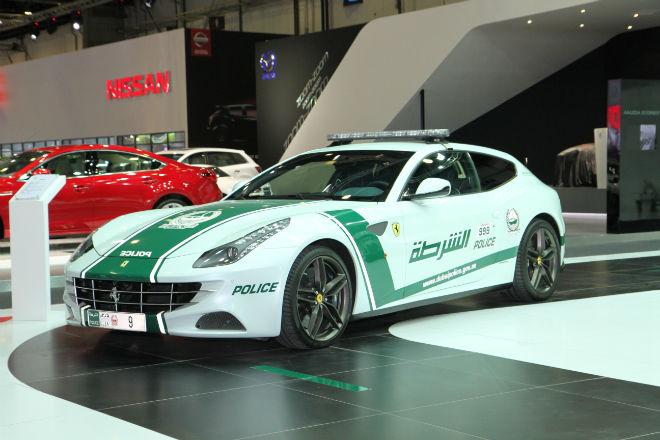 A Ferrari as a police car