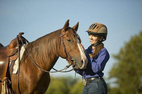 Amber Marshall - One of the celebrities who love horses