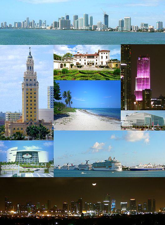 Collage de Miami - Las ciudades favoritas de EE.UU. de Gustavo Mirabal