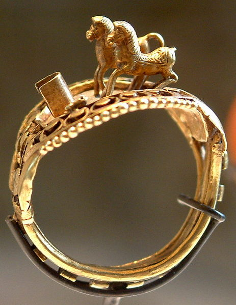"Ring of Ramses II - with his two horses- ""Mut is satisfied"" and ""Victory in Thebes"""