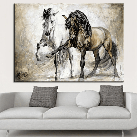 Perfect painting for classic decoration for horse lovers
