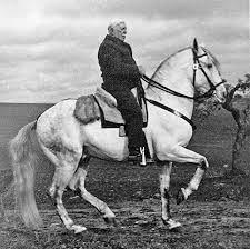 Ruy d'Andrade riding a horse