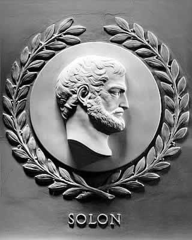 Solon from Athens, the great Greek jurist
