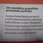 Noticia en Clarín