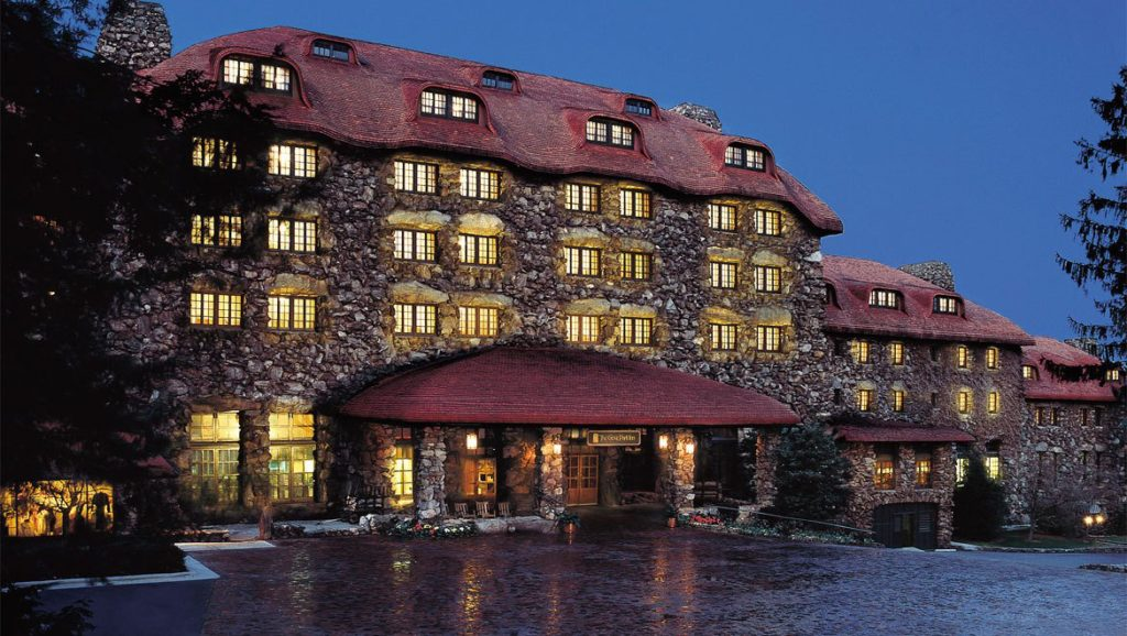omni grove park inn at night