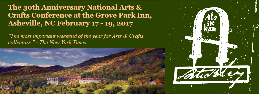 Gustav Stickley House Foundation to Attend 30th Annual Arts & Crafts Conference in Asheville, NC