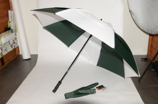 Gustbuster Golf umbrella Hunter-White 62""