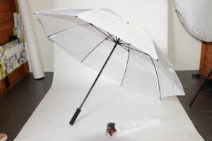 GustBuster golf windproof umbrella white