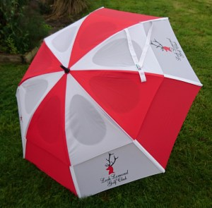 GustBuster Windproof Golf Umbrella Loch Lomond print