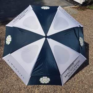 GustBuster windproof golf umbrella promotional print