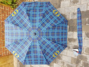 GustBuster Tartan windproof golf umbrella