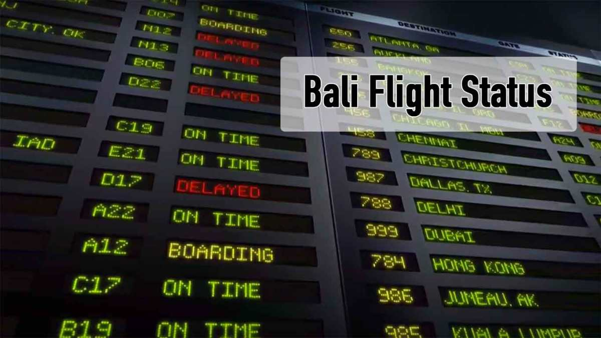 Bali Airport Flight Status