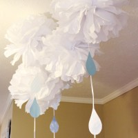 Raindrop and Umbrella Themed Baby Shower