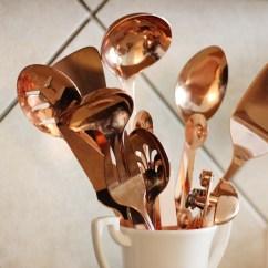 Copper Kitchen Utensil Holder Remodel Houston Utensils And Grey White