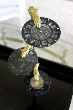 Vintage Brass Hand Letter Holder with Image3D Custom Viewmaster Reels | www.gustoandgraceblog.com