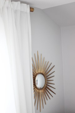Sunburst Mirror Brass Curtain Rod