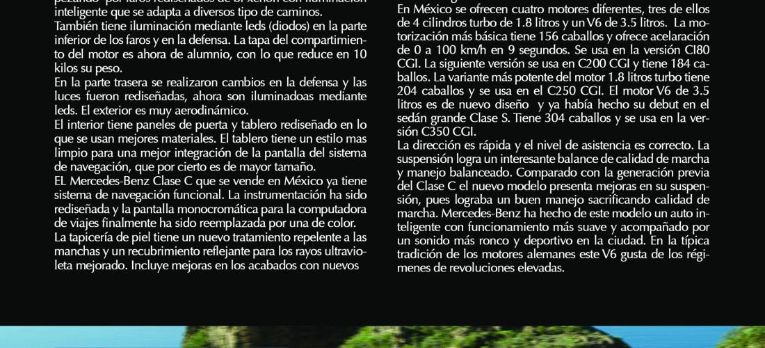 """Merces-Benz Clase C """"Rediseño aerodinámico con estilo"""" vía Revista Taste"""
