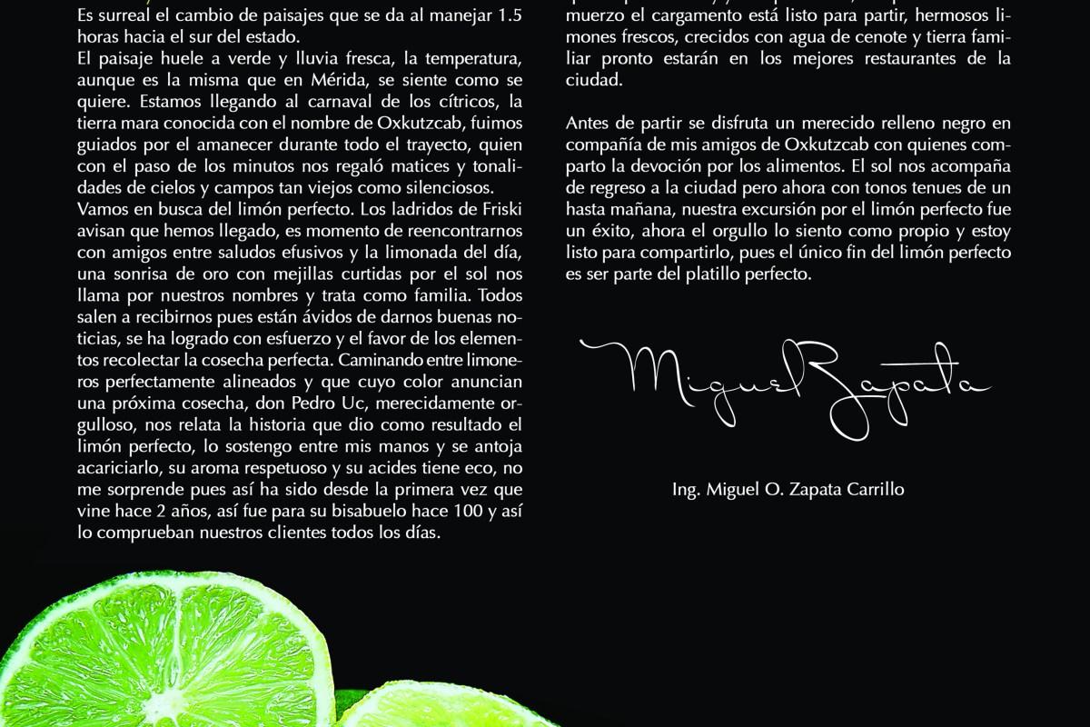 El limón Perfecto vía Revista Taste