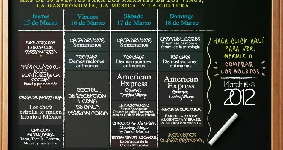 Conoce los eventos Cancún Wine & Food Festival