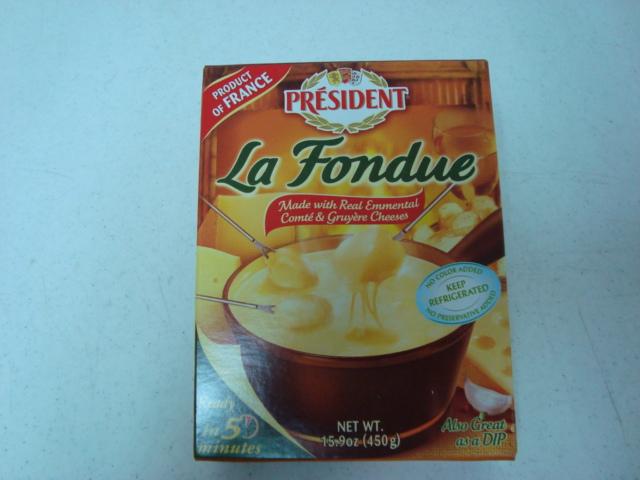 «La Fondue de 3 quesos Président»