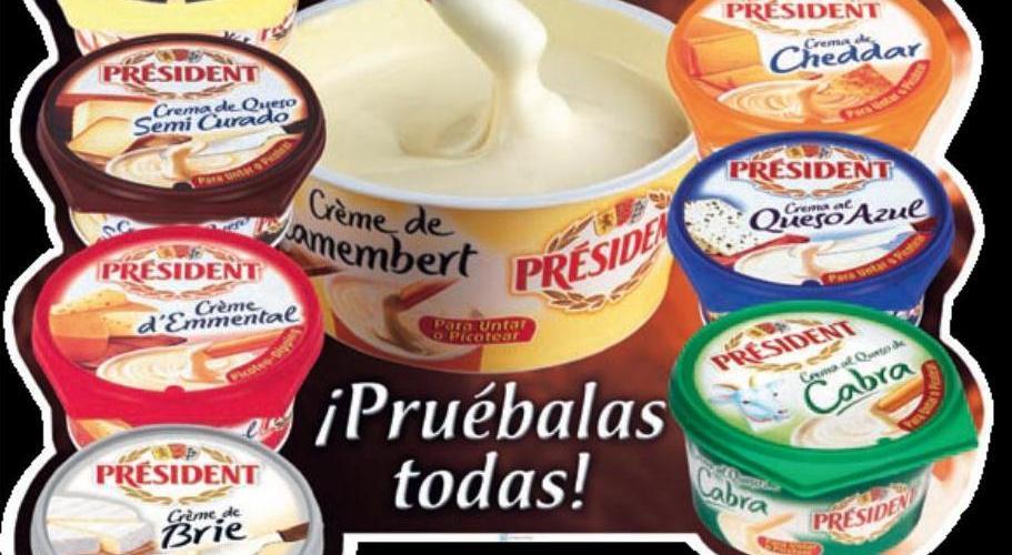 """Catálogo 2012 """"Cremas de Queso Président"""""""