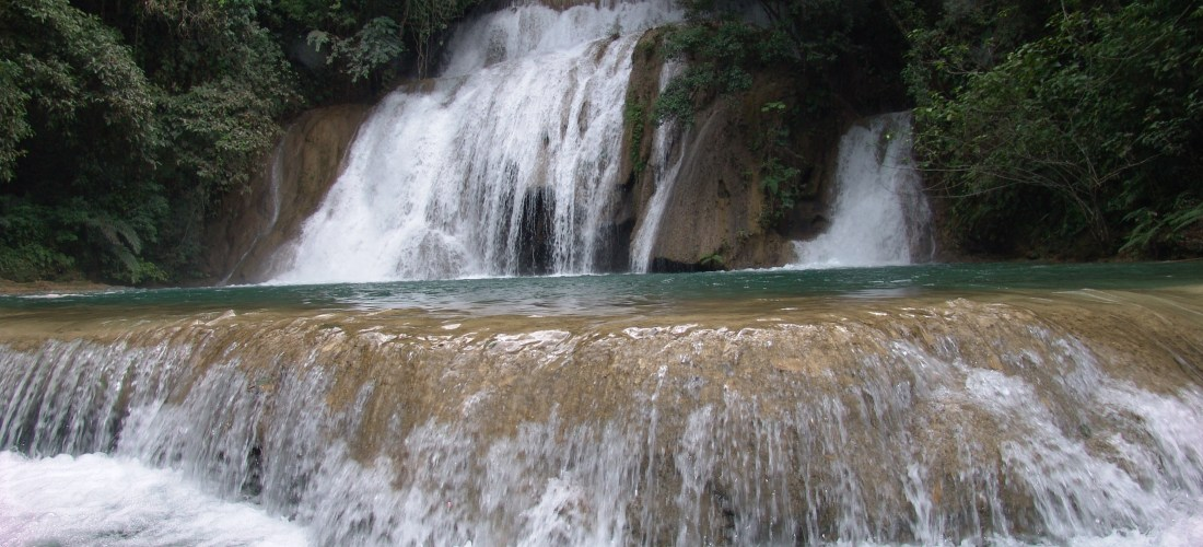 """#México a través de la lente  """"Cascadas Agua Azul"""" Chiapas"""