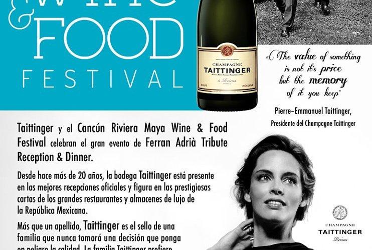 ¡Champagne Taittinger y Cancún Riviera Maya Wine & Food Festival celebran el gran evento de FERRAN ADRIA Tribute Reception & Dinner!