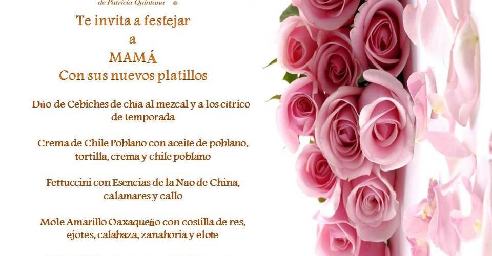 """Restaurante Izote @IzotePQ by """"Chef Patricia Quintana""""  @PQuintanaChef """"Te invita a festejar a Mamá"""""""