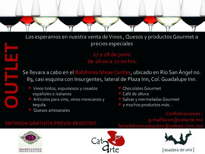Babilonia Show Center 27 y 28 de Junio @CatarteMex Vinos, Quesos y Productos Gourmet