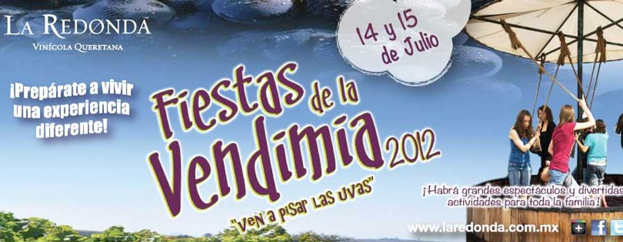 """""""Las Fiestas de la Vendimia 2012"""" Viñedos La Redonda @laredonda invita 14 y 15 Julio"""