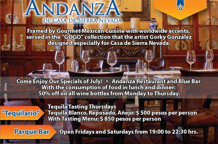 En imágenes Nuevo Menú Rest. Andanza by Chef José Bossuet @chefbossuet Hotel Sierra Nevada Sn Miguel Allende