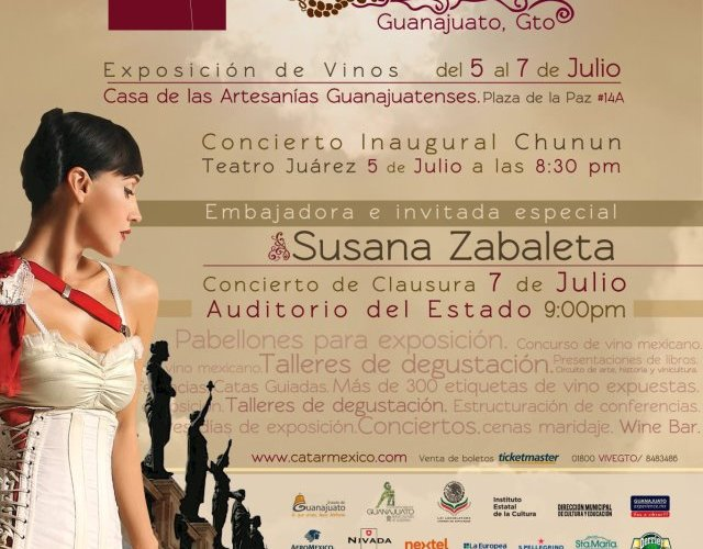 "Hoy inicia 1a Cumbre del Vino Mexicano ""Catar México"" @catarmexico con @SusanaZabaleta del 5 al 7 de Julio Guanajuato, Gto"
