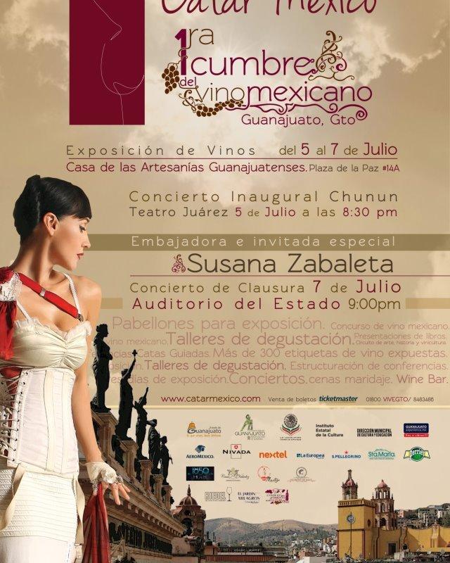 Hoy inicia 1a Cumbre del Vino Mexicano «Catar México» @catarmexico con @SusanaZabaleta del 5 al 7 de Julio Guanajuato, Gto