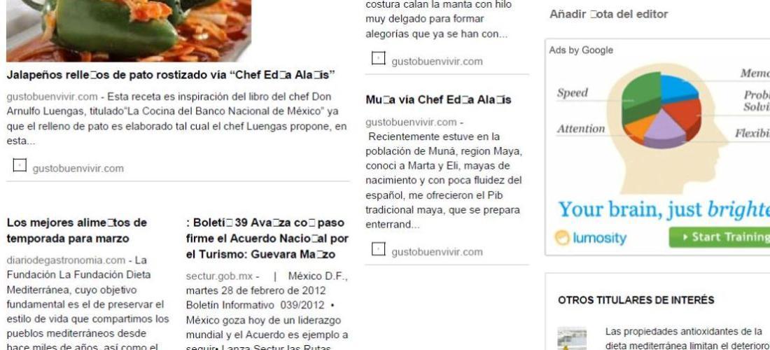 Extra, extra Periódico Gusto Buen Vivir ya esta disponible 10 de Julio del 2012