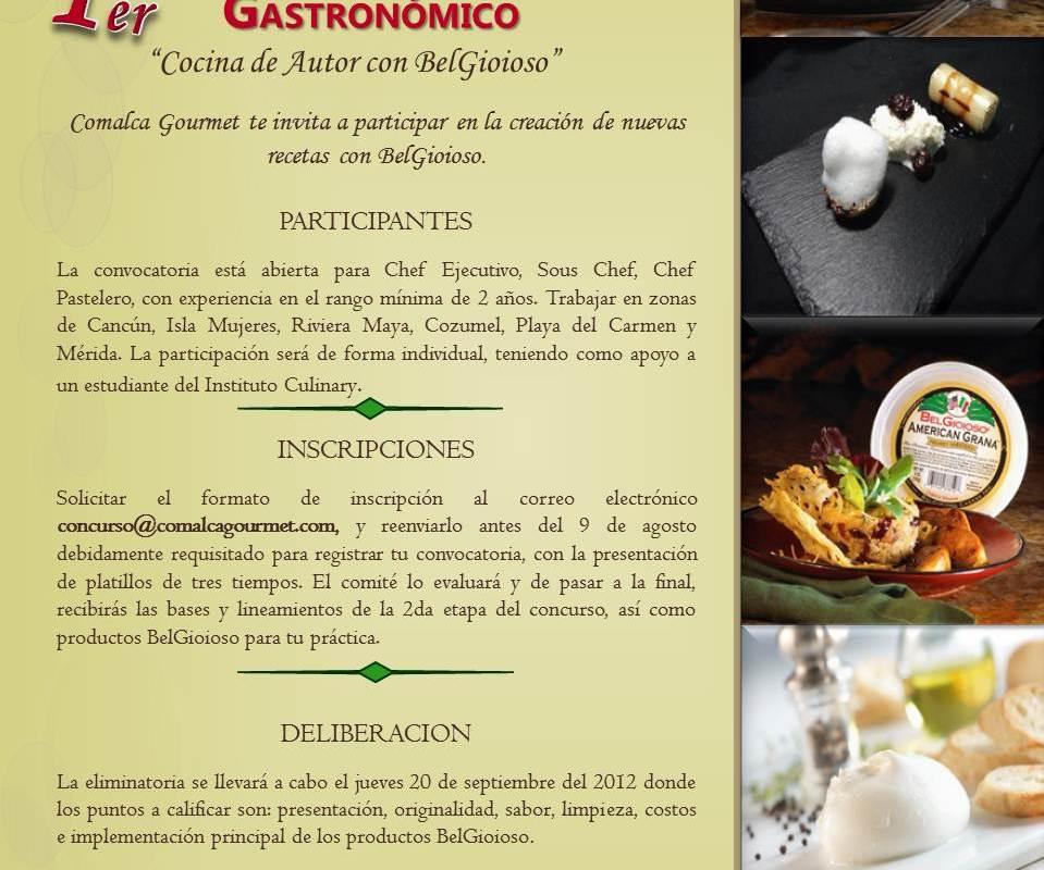 "Comalca Gourmet te invita al 1er Concurso Gastronómico ""Cocina de Autor con BelGioioso"""