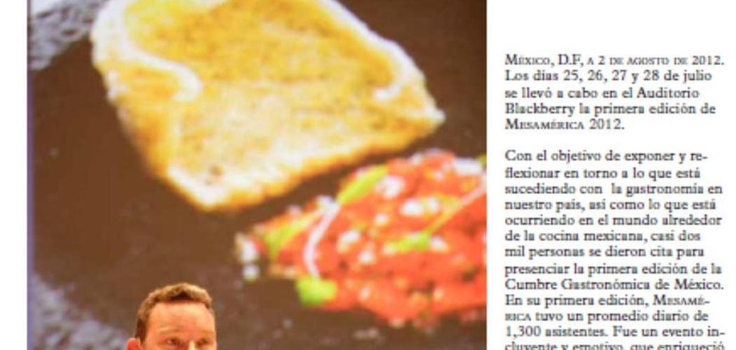 Boletín Prensa Mesamérica 2012 @mesamerica_mx