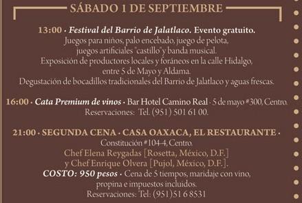 Programa Sábado 1 de Septiembre  Festival «El Saber del Sabor» @saberdelsabor #FESS2012