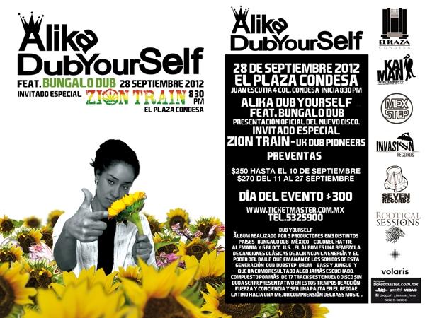 Alika presenta su nuevo disco DubYourSelf 28 de Septiembre 2012 El Plaza Condesa
