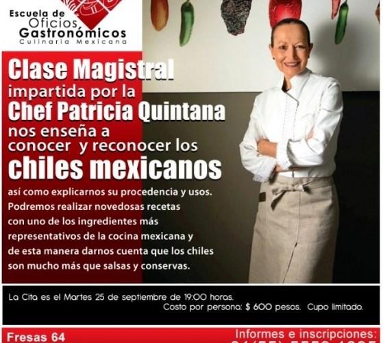 Chiles Mexicanos Clase Magistral impartida Chef Patricia Quintana @PQuitanaChef 25 Septiembre