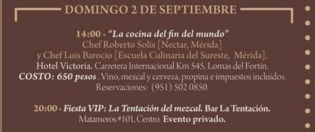 """Programa Domingo 2 de Septiembre Festival """"El Saber del Sabor"""" @saberdelsabor #FESS2012"""