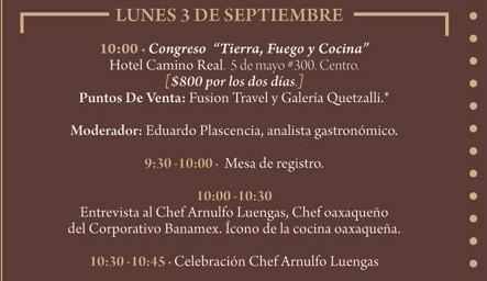 """Programa Lunes 3 de Septiembre Festival """"El Saber del Sabor"""" @saberdelsabor #FESS2012"""