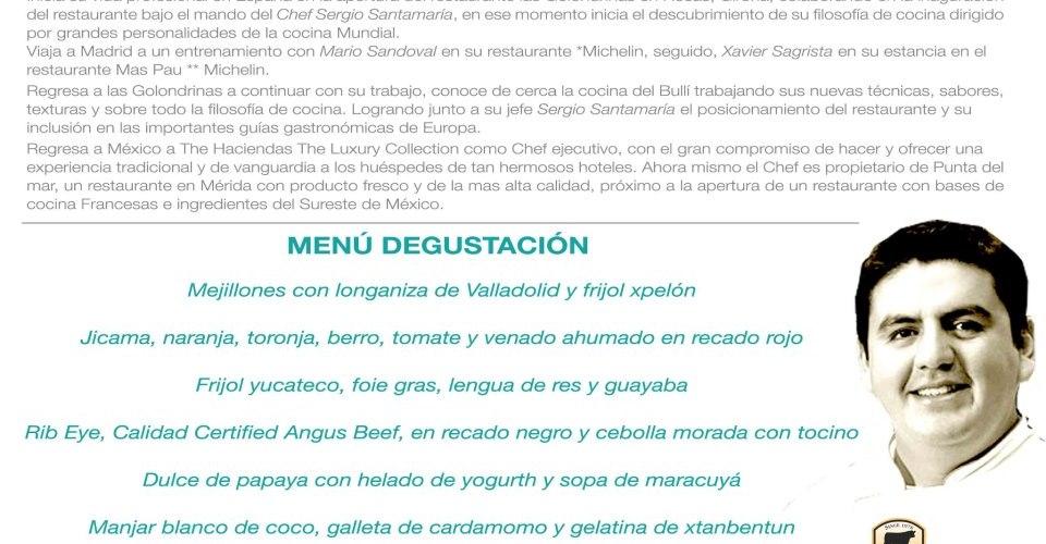 Chef Christian Bravo @ChrisBra_kicho cocina en Monterrey invitado por Chef Guillermo González Beristain @GGBeristain