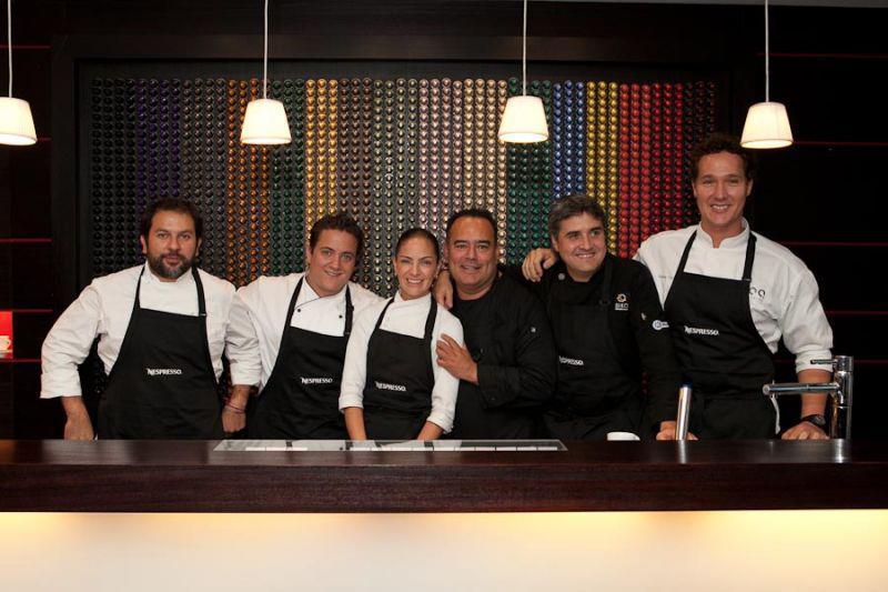 Opciones para maridar un café @Nespresso con Enrique Olvera, Daniel Ovadía, Enrique Muñoz Zurita, Mikel Alonso y Vicente Torres