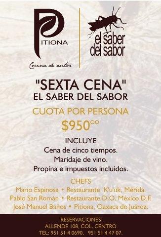 """Reserva tu espacio en la Sexta Cena Festival  """"El Saber del Sabor"""" @saberdelsabor #FESS2012"""