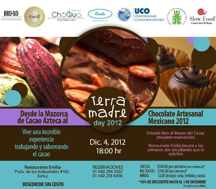 Desde la Mazorca de Cacao Azteca al Chocolate Artesanal Mexicano «Terra Madre» 4 Diciembre 2012