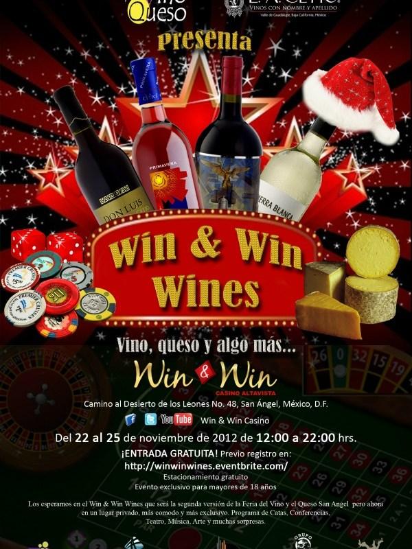 """Feria del Vino y el Queso presenta """"Win & Win Wines"""" del 22 al 25 de Noviembre 2012"""