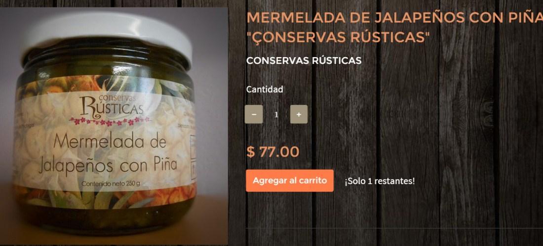 Gourmands Market Mermelada de Jalapeños con Piña «Conservas Rústicas» @ConservasRustic