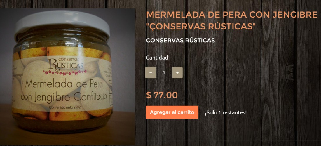 Gourmands Market Mermelada de Pera con Jengibre «Conservas Rústicas» @ConservasRustic