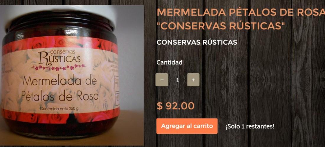 "Gourmands Market Mermelada de Pétalos de Rosas ""Conservas Rústicas"" @ConservasRustic"