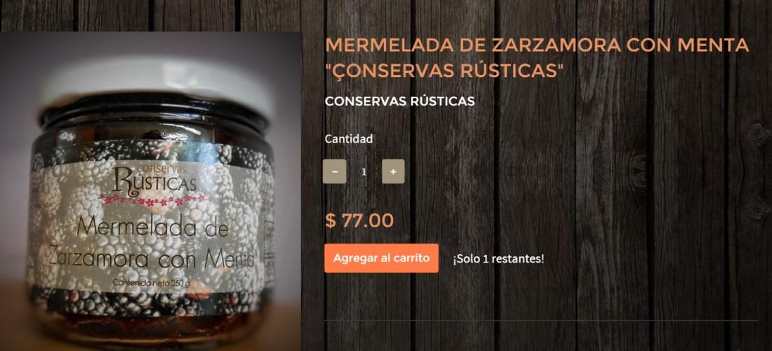 """Gourmands Market Mermelada de Zarzamora con Menta """"Conservas Rústicas"""" @ConservasRustic"""